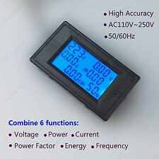 AC Multimeter Voltage 110V 220V Current Amp 100A Power Factor KWH Frequency 6in1