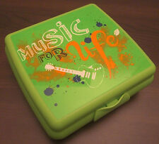 Tupperware A 126 Sandwichbox Music Musik Pausendose Brotzeitdose Grün Neu OVP
