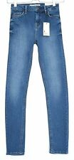 NEW Topshop Skinny JAMIE High Waisted Medium Blue Stretch Jeans Size 6 W24 L32