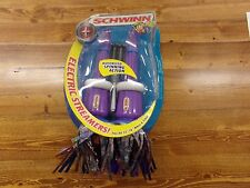 Schwinn Motorized Spinning Action Silver, Blue, Pink & Purple Bike Streamers NEW