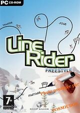 LINE RIDER FREESTYLE jeu PC pour concevoir des pistes de luges skis et puzzles