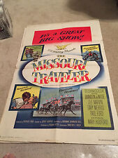 ORIGINAL MOVIE POSTER 27 X 41 FOLDED THE MISSOURI TRAVELER LEE MARVIN