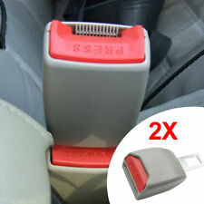 2PCS GRAY AUTO CAR SAFETY SEAT BELT BUCKLE CLIP ADJUSTABLE EXTENSION EXTENDER