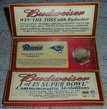 Budweiser NFL Super Bowl Champs Coin***ST. LOUIS RAMS***from CANADA
