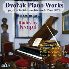 CD DVORAK PIANO WORKS WALTZES ECLOGUES PIECES op.52 MAZURKAS KVAPIL