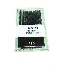 Poldi HSS Size NO #30 Drill Bits 1/8 Shank 10 PCS Set