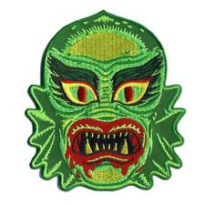 FISH FACE FREAK PATCH EMBROIDERED SEW ON / IRON ON PATCH BY RETRO-A-GO-GO