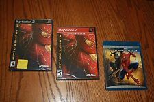 Lot Spiderman 2 Playstation 2 Black Label and Greatest Hits plus bonus Blu Ray