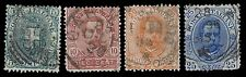 1891-96 ITALY #67-70 DEFINITIVES - USED - F/VF & BETTER - CV$17.20 (ESP#1076)