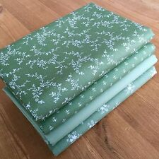 FLORAL BLENDER FABRICS in SAGE GREEN Fat Quarter Bundle {A} 100% cotton