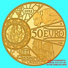 "FRANCE/FRANKREICH 2013 50 EUROS ""NOTRE DAME""  OR - GOLD    BE/PP/PROOF RARE"