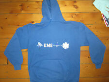 vintage 1980s EMS EMERGENCY MEDICAL SERVICES Hooded SWEATSHIRT made in USA XL