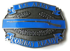 UNITED STATES ARMY CIB COMBAT INFANTRY LOGO BELT BUCKLE 3.2 INCHES