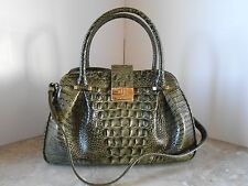 New BRAHMIN Laura FOREST MELBOURNE Croco Leather Satchel $325