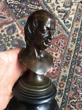 Buste Bronze Marbre Portrait Sculpture XIX 19 ème