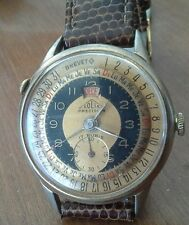 Rare vintage men's SOLIX PRECISION triple date wristwatch, runs good, 4K