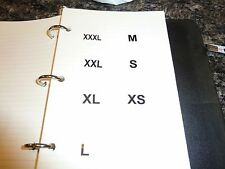 """7 SETS of 20 labels each SIZE (XS - XXXL) 1"""" Round CLEAR Clothing Retail Labels"""