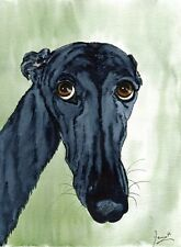 LARGE GREYHOUND LURCHER WHIPPET DOG 6010 Dianne Heap ART ITALIAN PAINTING PRINT