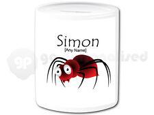 Personalised Ceramic Money Box- Insect Design- Spider