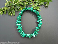Malachite Crystal Chip Bracelet - Powerful Stone - Protection, Astral Travel