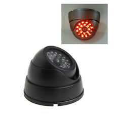 Indoor Outdoor Dummy CCTV Fake Security Dome Camera With Flashing Red LED Light
