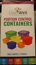 Portion Control Containers 7 Pieces Multi-Colored