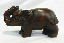 Vintage / Antique Carved Wooden Japanese Netsuke - Elephant