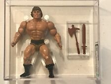 Mattel Wonder Bread He-Man AFA 85+ NM Brown Hair MOTU Gold COA Graded Figure