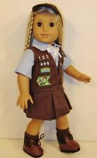 """Complete BROWNIE SCOUT UNIFORM + BOOTS fits American Girl Doll /18"""" Doll Clothes"""