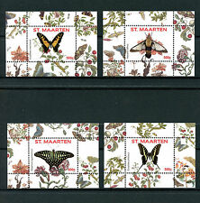 St Maarten 2016 MNH Butterflies Series II 4x 1v S/S 5-8 Vlinders Insects Stamps