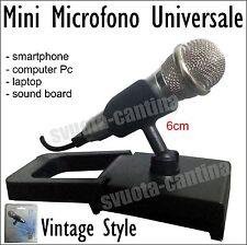 MINI MICROFONO AUDIO VINTAGE JACK 3.5 PLUG PER BRONDI LUXURY 4