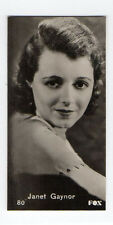 Swedish Marabou Ergo-Cacao Chocolate Film Star card circa 1930 #80 Janet Gaynor