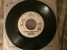 """WORKSHOP  """"You're My Greatest Hit / (same)"""" ARISTA 1978 soul promo 45 NM-"""