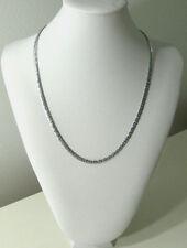 White Gold Necklace Snake Choker Chain 20in 9k Womens Men