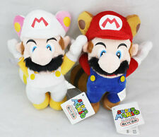 2pcs Super Mario Flying Rabbit Mario & Flying Raccoon Plush Doll Figure Toy Gift