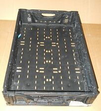 """PLASTIC STACKING CRATES LUGS BINS BASKETS FOLDING COLLAPSIBLE 6411, 5"""""""
