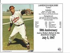 "Larry Doby  - Cleveland Indians - 50th Anniversary Supercard 8"" x 10"""