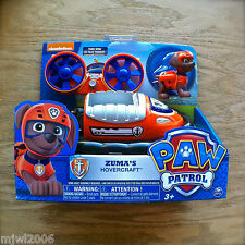 Nickelodeon PAW PATROL ZUMA'S HOVERCRAFT Vehicle Fans Spin FLOATS Pup Set 3+