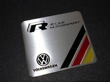 Volkswagen R-Line Embossed Metal Badge Emblem Sticker Logo R GTI Golf Polo Jetta