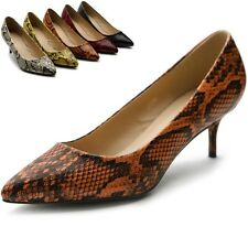 ollio Womens Shoes Snakeskin D'Orsay Pointed Toe Multi Colored Pumps