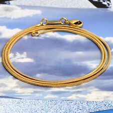 Gold Plated Thin Chain Link Necklace Small Punk Round Women Girl 14k Gift