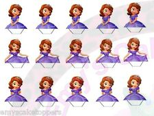 15 x Sofia the First Stand Up  Edible Wafer Paper Cake/Cupcake Toppers