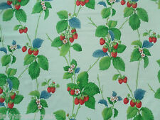 Sanderson Curtain Fabric SUMMER STRAWBERRIES 0.85m Vintage II Cotton Design 85cm