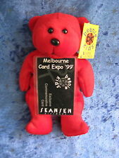 BEANIE KIDS - RUBY THE RED BEAR BK 41 MELBOURNE CARD EXPO 1999 COMMEMORATIVE