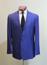 Spencer Hart Savile Row Electric Blue Cotton Twill SB1 Minimalist Summer Suit 40