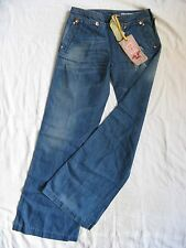 We Are Replay Damen Blue Jeans Denim W27/L32 low waist loose fit wide leg linen
