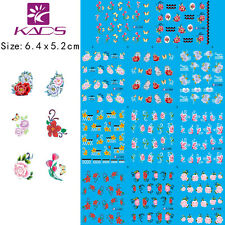 11 Sheets/Lot Flower Rose Nail Art Stickers Water Transfer Decals BLE1819-1829