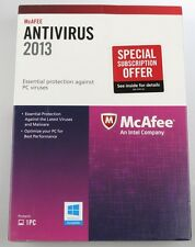 McAFEE Antivirus 2013 Essential Protection Against PC Viruses,spyware NEW 1PC