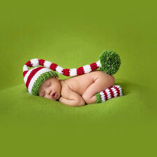 Christmas Newborn Infant Baby Girl Boys Crochet Knit Photo Photography Props Hot