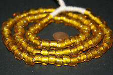 Strand old Venetian Murano antipue amber colored crow trade beads